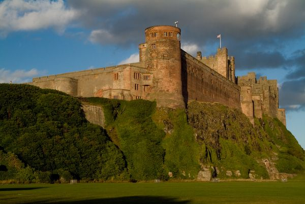 Bamburgh Castle photo, The castle from the village cricket field