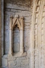 West tower doorway canopied niche