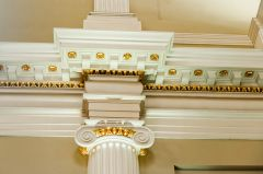 Detail of the classical, gilded columns