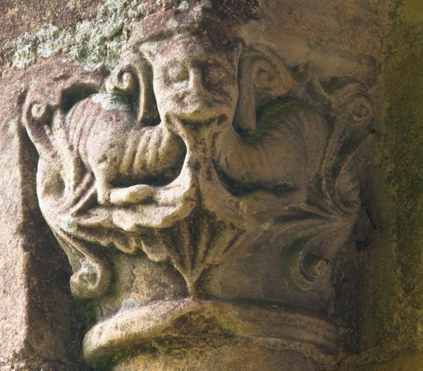 Barfreston, St Nicholas Church photo, Dragon carving