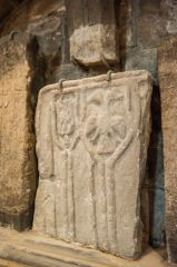 St Mary's Church, Barnard Castle, Tomb slab fragment, north transept