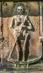 St Mary's Church, Barnard Castle, Figure of Death on the Hopper tomb