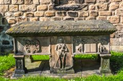 St Mary's Church, Barnard Castle, George Hopper memorial, 1725