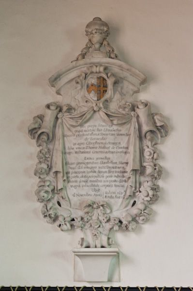 Barnsley, St Mary's Church photo, Bourchier wall memorial, 1691