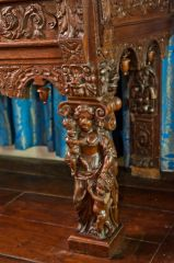 Musgrave aisle table carving