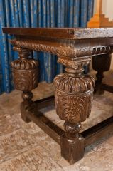 Jacobean altar table carving