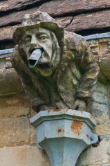 Grotesque carving, Barnsley Church, Gloucestershire
