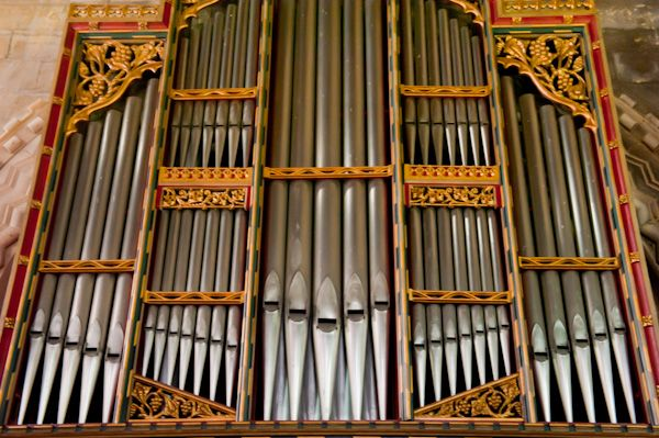 Barton-le-Street, St Michael's Church photo, Victorian organ