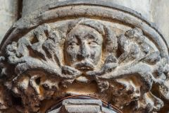 Green man carved capital, St Mary's church