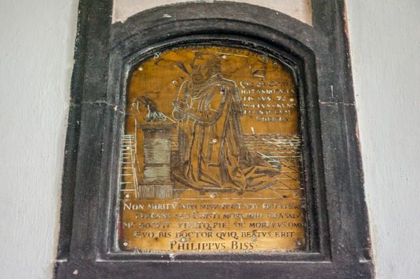 Batcombe, Blessed Virgin Mary Church photo, Philip Bisse memorial brass