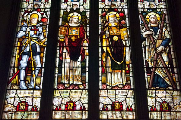 Batcombe, Blessed Virgin Mary Church photo, The east window stained glass by Nicholson