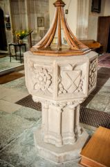 Batcombe, Blessed Virgin Mary Church, The late 15th century font