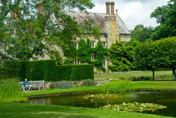 Bateman's photo, Water garden and house