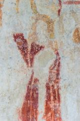 Baulking, St Nicholas Church, 14th century wall painting