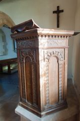 Baulking, St Nicholas Church, Jacobean pulpit