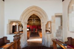 Baulking, St Nicholas Church, Chancel arch and screen