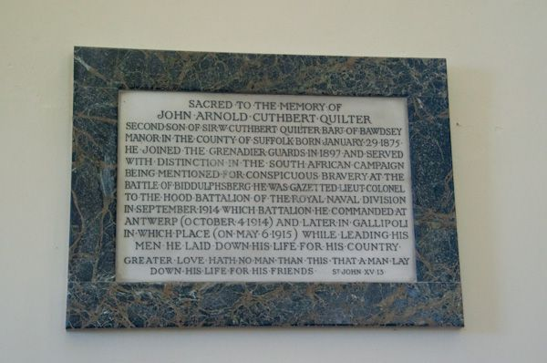 Bawdsey, St Mary the Virgin Church photo, Quilter memorial