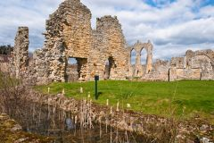 Bayham Abbey, View across the moat