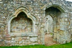 Bayham Abbey, An ogee arched niche and doorway