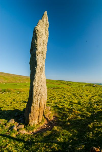 Beacharr Standing Stone photo, The north face of the stone