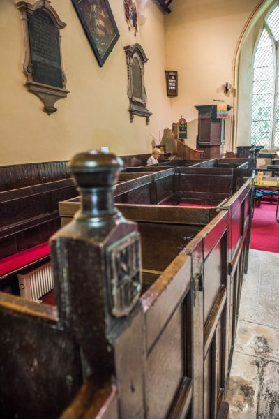 Beauchief Abbey photo, Box pews in the nave