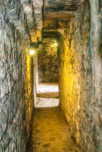 Beaumaris Castle photo, A passage within the walls