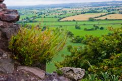 Beeston Castle, Looking over Cheshire Plain