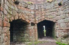 Beeston Castle, Inside a corner tower