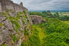 Beeston Castle, The castle cliff and Cheshire Plain