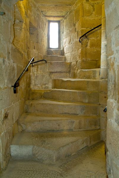Belsay Castle photo, Spiral stair
