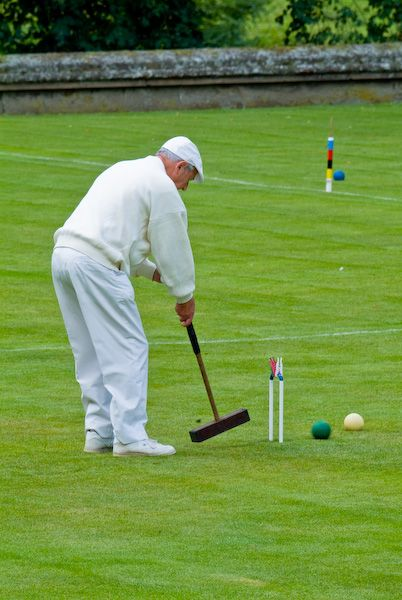 Belsay Hall and Garden photo, Croquet at Belsay