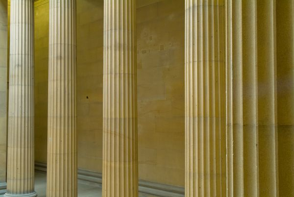Belsay Hall and Garden photo, Greek columns