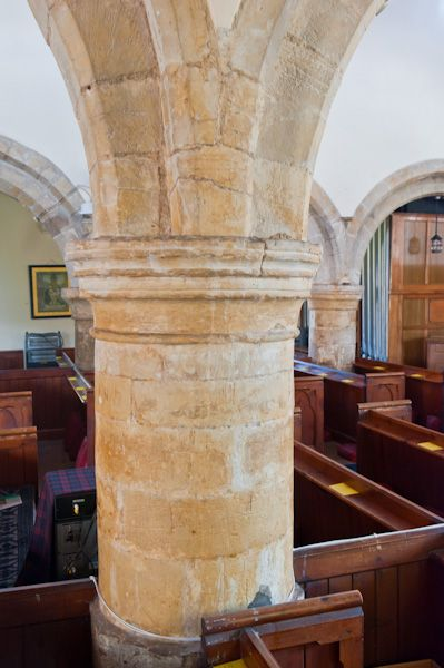 Bempton, St Michael's Church photo, Romanesque nave pillar