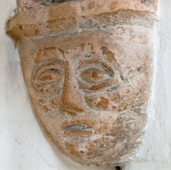 Benenden, St George's Church photo, Carved corbel head