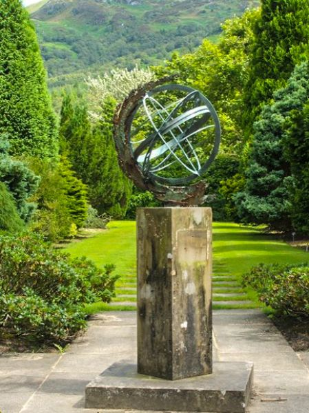 Benmore Botanic Gardens photo, A sundial in the formal gardens (c) Lairich Rig