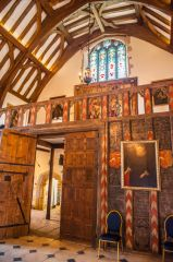 The great hall's minstrel gallery