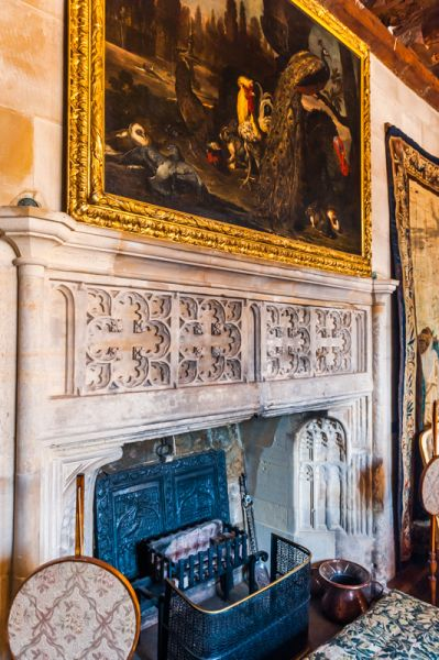 Berkeley Castle photo, Small Drawing Room fireplace