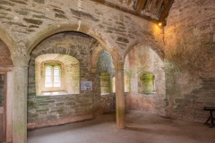 Inside the medieval gatehouse tower