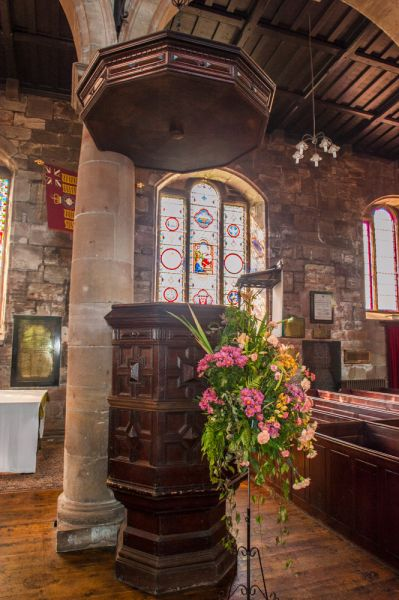 Berwick-upon-Tweed, Holy Trinity Church photo, The pulpit and tester (sounding board)