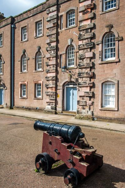 Berwick-upon-Tweed Barracks and Main Guard photo, An old cannon stands in the court