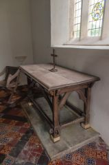 Victorian wooden altar table