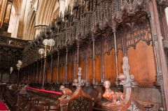 Beverley Minster, Beautifully carved choir stalls