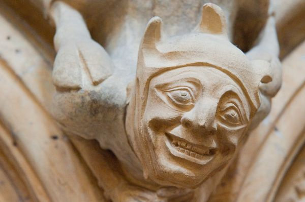 Beverley Minster photo, Carved head
