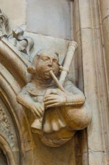 Bagpipe player, Beverley Minster