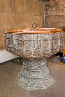Beverley, St Mary's Church, Norman font