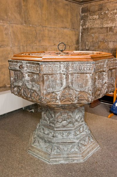 Beverley, St Mary's Church photo, Norman font