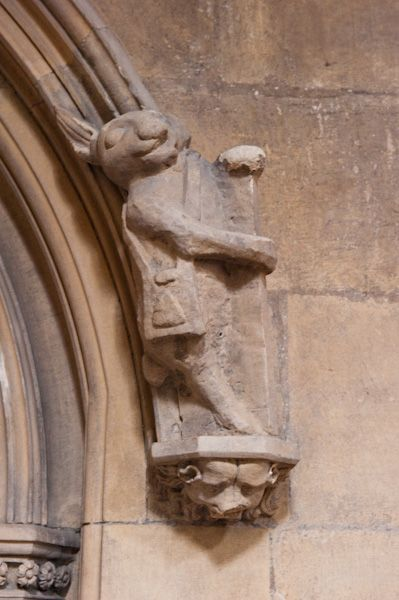 Beverley, St Mary's Church photo, White Rabbit carving
