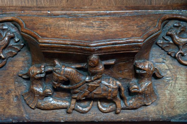 Beverley, St Mary's Church photo, Misericord of St George killing dragon