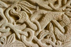 Serpent carving detail