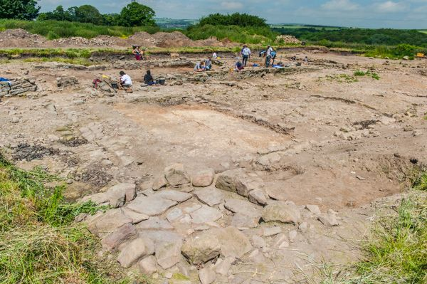 Binchester Roman Fort photo, Archaeological excavations on the fort